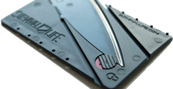The Instablade Credit Card Knife By Survival Life Is Not Too Shabby